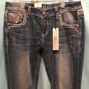 Grace in LA BRAND NEW Size 31 Boot Cut Jeans